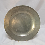 Antique Pewter Plate London