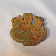 Hard Stone Chinese Pendant Roosters