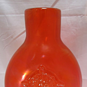 Art or Peking Chinese Iridescent Red Glass Vase