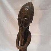 African Carved Wood Figure Baule