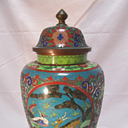 SALE Old Chinese Cloisonne Jar