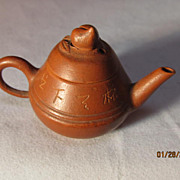 Miniature Japanese Red-Ware Tea Pot