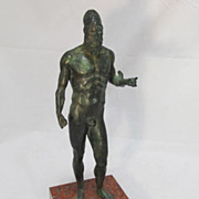 20th Century Nude Warrior Bronze Statue