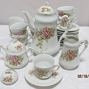 SALE 23 Piece Continental Porcelain Coffee Set