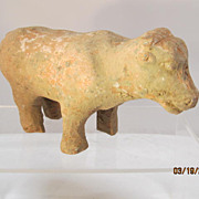 Chinese Han Dynasty Pottery Cow