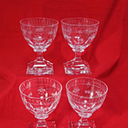 Four Baccarat Crystal Glasses