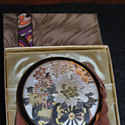 SOLD Beautiful Chokin Flower Cart Compact in Original Box