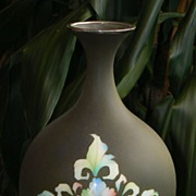 Japanese Cloisonne Enamel Vase with Matte Finish