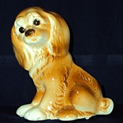 SOLD Royal Copley Spaniel Planter c. mid-century
