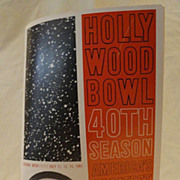 Vintage 1960's California Travel Brochures and Hollywood Bowl Program
