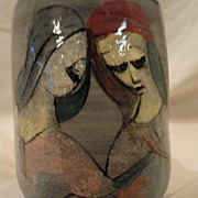 Modern Abstract Ceramic Vase by Poila Pillin