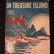 "Vintage Sheet Music ""On Treasure Island"" 1935"