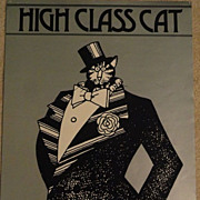 "B.Kliban Cat Poster, ""High Class Cat"" 1977"