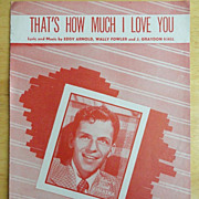 Vintage Sheet Music Frank Sinatra