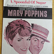 Vintage Sheet Music Disney's Mary Poppins A Spoonful of Sugar