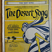 Vintage Sheet Music The Desert Song