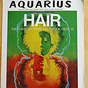 Vintage Sheet Music Hair/Aquarius 1967