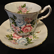 Paragon Flower Festival Bone China Teacup and Saucer