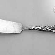 Lily of the Valley Whiting Master Butter Knife 1885 Sterling Silver Monogrammed EC