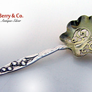 Lily of the Valley Whiting Bon Bon Spoon 1885 Sterling Silver Monogram MTO