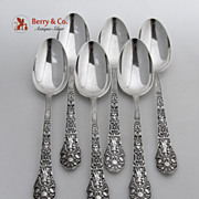 SALE Old Medici 6 Table Spoons Gorham Sterling Silver 1880