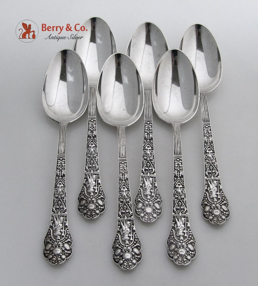 Old medici 6 table spoons gorham sterling silver 1880 from for 6 table spoons
