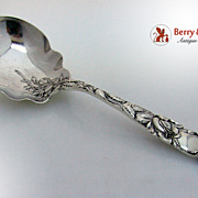 SALE Bridal Rose Berry Spoon Sterling Silver Alvin 1903