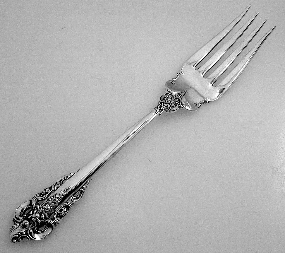 Grande Baroque Cold Meat Fork Wallace Sterling Silver 1941