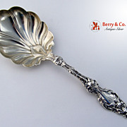 SALE Lily Small Berry Spoon Sterling Silver Whiting 1902 Mono N