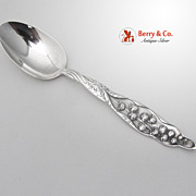 Lily of the Valley Oval Soup Spoon Sterling Silver Whiting 1885