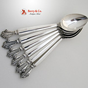 Acanthus 6 Teaspoons Sterling Silver Georg Jensen 1945