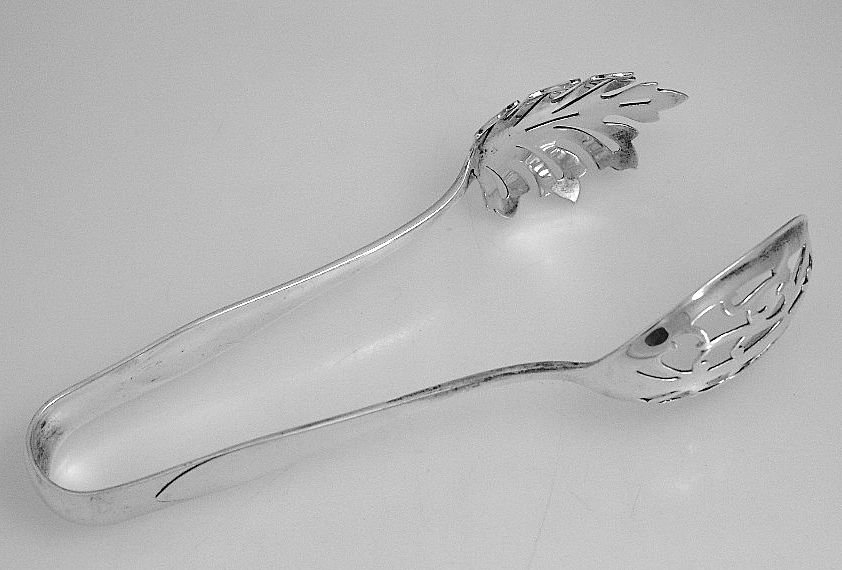 Sterling Silver Ice Tongs Watson 1911