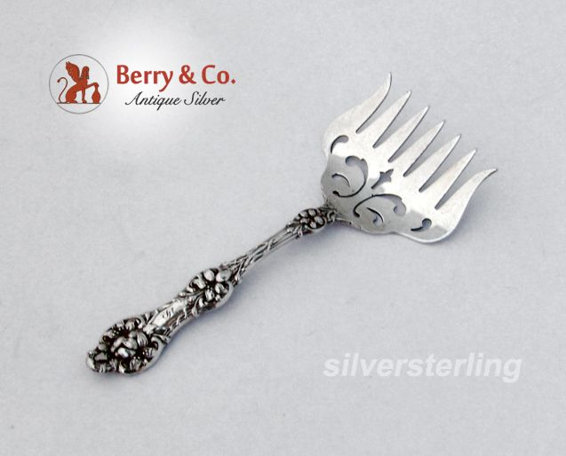 Sardine Fork Orange Blossom Old Alvin Sterling Silver 1905