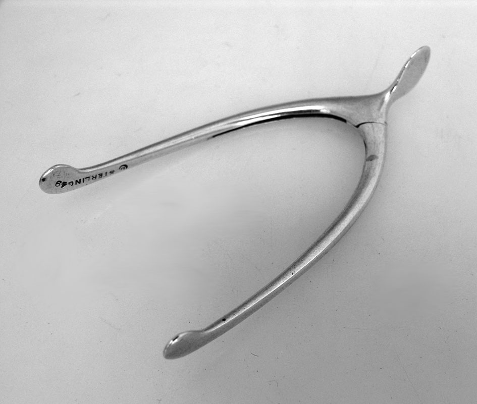 Wishbone Sugar Tongs Sterling Silver 1900