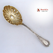 Gipsy Berry Spoon Shiebler 1881 Sterling Silver Monogram GK