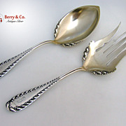 Shiebler Victoria Salad Set Sterling Silver 1894 Monogram G