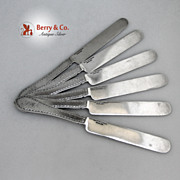 Breakfast Knives 6 Ball Black Co Sterling Silver 1865 Monogram MBO