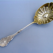 Shiebler Corinthian Large Berry Spoon 1855 Sterling  Silver Monogram D