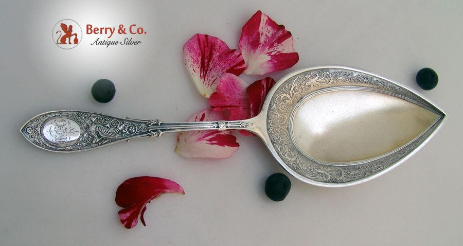 Arabesque Pastry Server Whiting Sterling Silver 1875