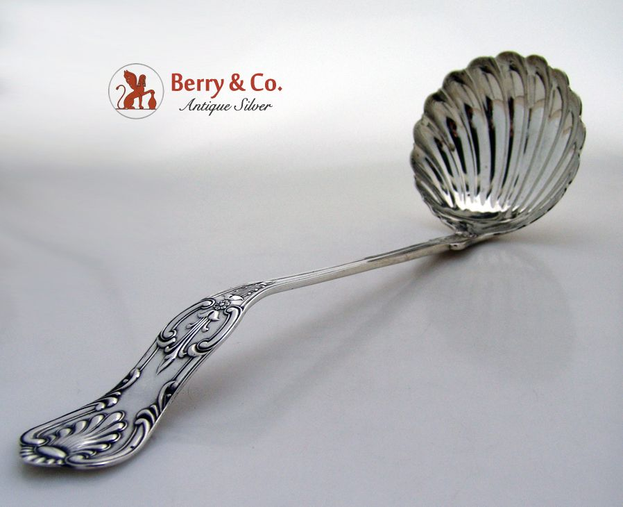 Kings Soup Ladle Krider Biddle 1865 Coin Silver No Monogram