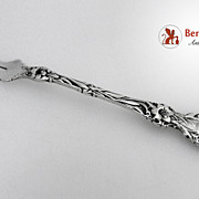 Butter Pick Two Tine Lily Whiting Patent 1902 Sterling Silver Monogram D