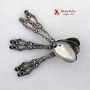 Teaspoons 6 Lily Whiting Patent 1902 Sterling SIlver No Monogram