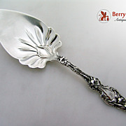 Lily Pie Server Sterling Silver Whiting 1902