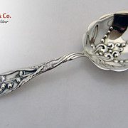 Lily of the Valley Whiting Berry Spoon 1885 Sterling Silver No Monograms