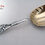Lily of the Valley Whiting Vegetable Serving Spoon 1885 Sterling Silver No Monograms