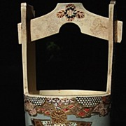 Satsuma Decorative Well Bucket Crafted in the Meiji Period