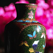 Meiji Era Thin Walled Shippo Vase, 19th Century