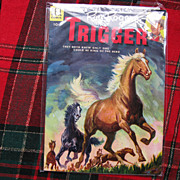 1951 Vintage Roy Rogers Dell Comic Book with Trigger ~ Graded Fine