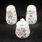 Minton Haddon Hall CONDIMENTS SET - Salt & Pepper And Mustard