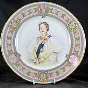 Caverswall Bone chine Plate to mark 80th Birthday of The Queen Mother 1927/2000